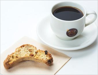 松野家ビスコッティー付きコーヒー